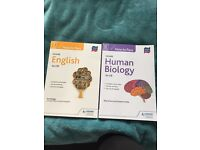 SQA Higher how to pass books for English & Human Biology Cfe