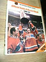 OFFICIAL GUIDE & RECORD BOOK-THE NATIONAL HOCKEY LEAGUE 1986-87