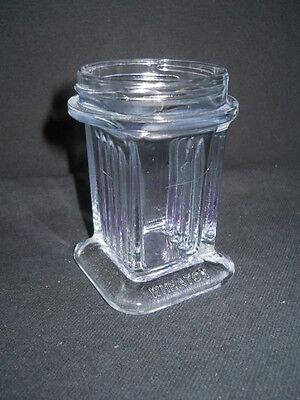 Wheaton 5 Slide Vertical Glass Coplin Staining Jar No Screw Cap 3.25 Tall