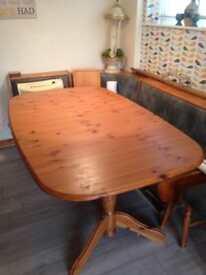 Pine extending table