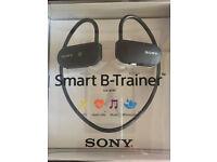 Sony SSE-BTR1B Wireless Smart B-Trainer Headphones Includes Bluetooth GPS HRM 16 GB Black bargain