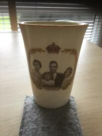 Woods Ivory Ware Souvenir Coronation Cup