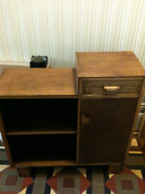 Small retro wooden cupboard
