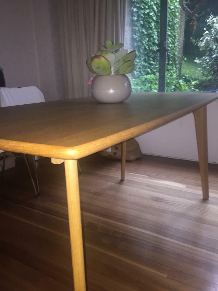 Scandi Style Oak Dining Table From Made
