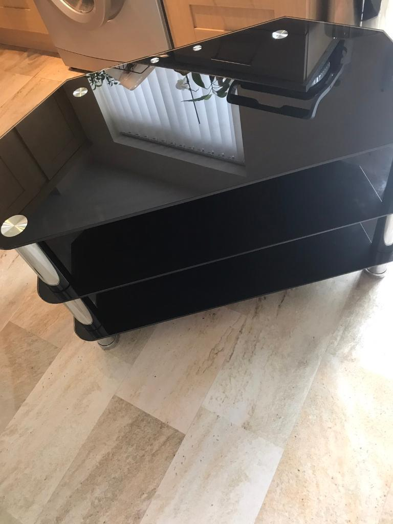Black glass tv table in Thornaby County Durham