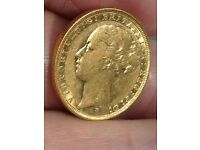 A NICE 1883 M MINT YOUNG HEAD SOVEREIGN