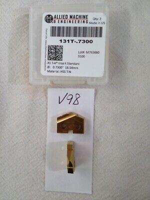 2 New .7300 Allied Spade Drill Insert Bit. 150t-.7300 Amec. 1 T-a Tin V98