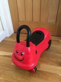 ELC easy wheels ladybird ride on