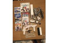Nintendo wii 6 games mario kart call of duty 3 Christmas present