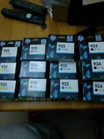 Genuine HP inks, 934/935. Black cyan magenta yellow