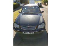 Mercedes Benz c class c180 elegance petrol 2002 (52 reg).