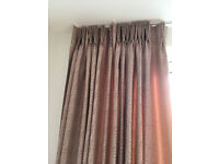 Beige with red fleck patio door/large window curtains with thermal lining made by Hilarys