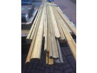 Wooden banister railing ideal for decking. 14ft. Pick up Falkirk. £4 per length