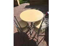 4 seater Beechwood round table £20, Pickup Only
