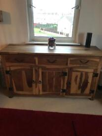 Solid hand made sideboard (very heavy)