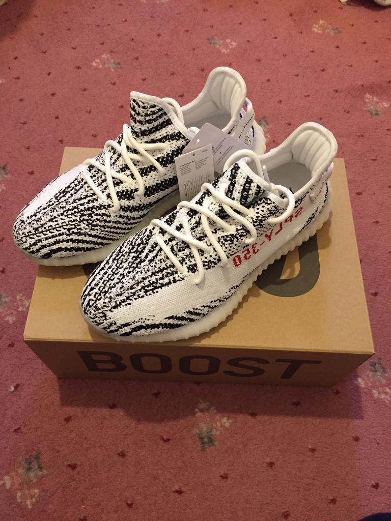 Adidas Yeezy Boost 350 Londres V2 Zebra tamaño en el puente de Londres 350 2cc59a