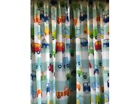 Little boys bedroom curtains and duvet cover
