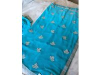 Saree - silver embroidery with blouse