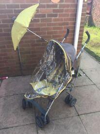 Mamas & Papas Kato Stroller with rain cover & parasol inc
