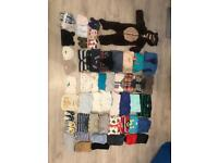 52 items- baby boy, newborn clothes, shoes, hats
