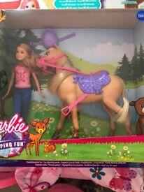 Barbie camping fun barbie and horse