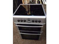 £125.30 Beko sls/Black ceramic electric cooker+60cm+3 months warranty for £125.30