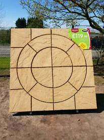 CHALICE CIRCLE PATIO PAVING FEATURE KIT COVERS 1.8M X 1.8M ONLY £119.99
