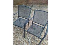 2 metal garden chairs