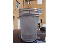 [GOOD AS NEW] 4 x METAL WIRE WASTE PAPER BINS
