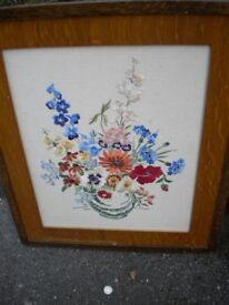 A BEAUTIFUL TAPESTRY 24X30 OAK FRAMED c1930s