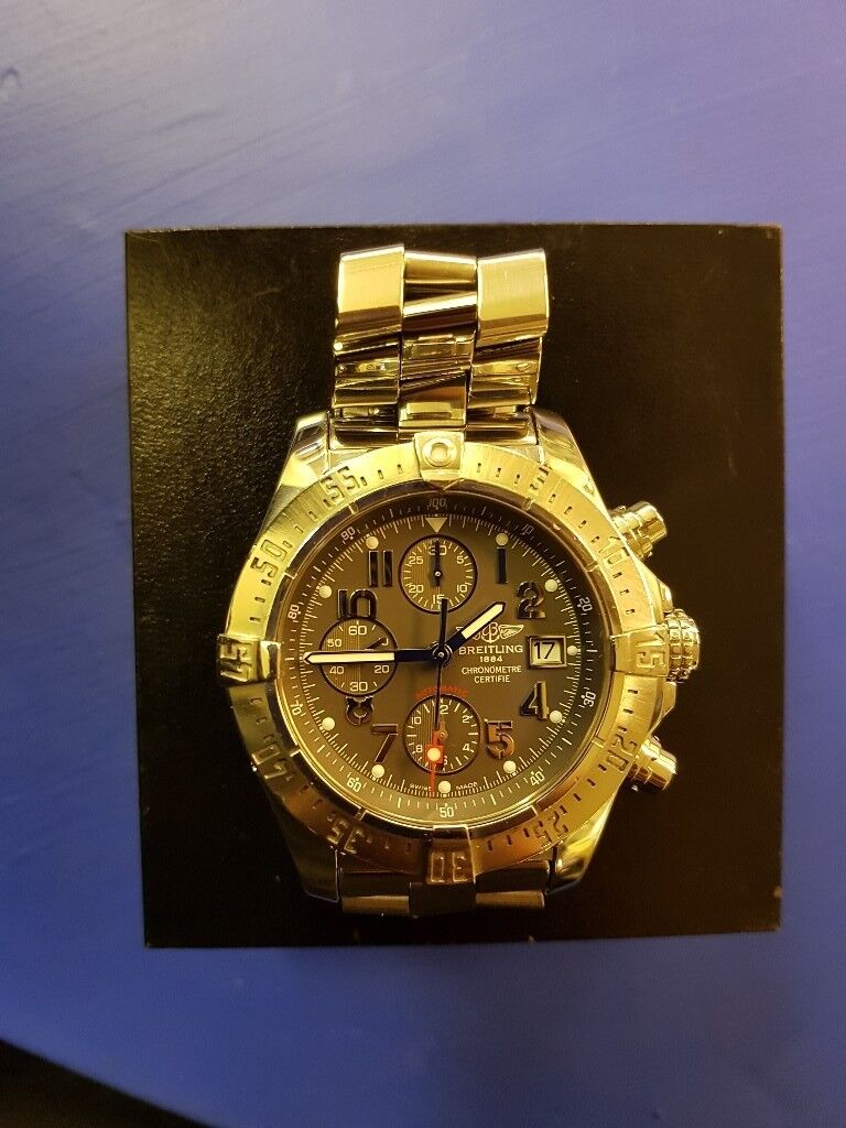 f86a26c538f Mens Breitling skyland avenger watch 2009 not rolex cartier tag. Marshfield  ...