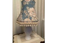 Two Table Lamps with Lampshades