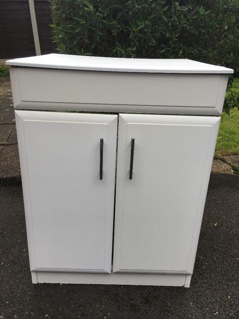 half off d3472 7a771 White Floor Standing Bathroom Cabinet, originally from B&Q | in Chellaston,  Derbyshire | Gumtree