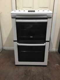 Zanussi gas cooker ZCG551GWC 55cm FSD double oven 3 months warranty free local delivery!!!!!!!!