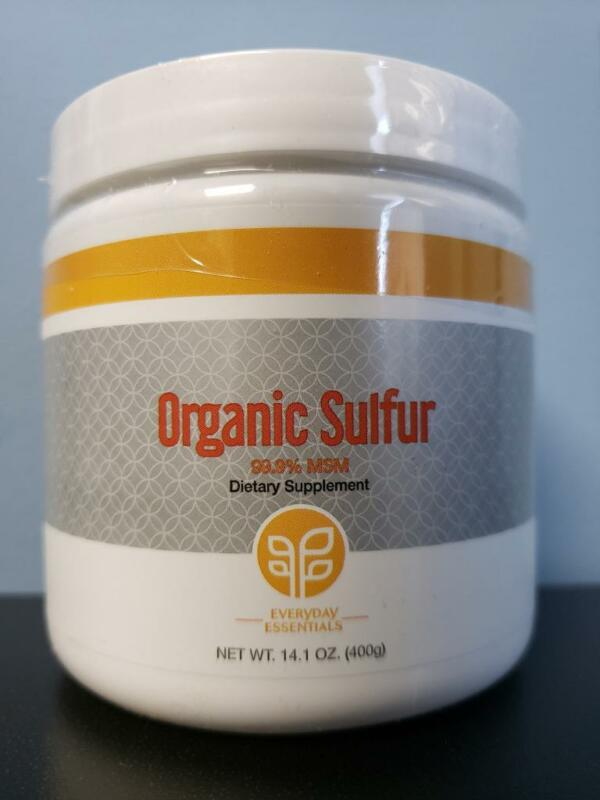 Genesis Pure Everyday Essentials Organic Sulfur Dietary Supplement 14.1 oz - New