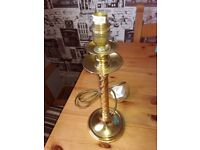 Solid brass table lamp stand
