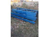 Metal racking heavy duty uprights
