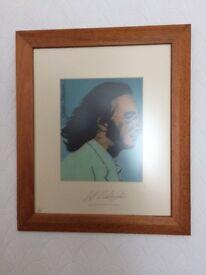 John Lennon The Beatles framed printed picture by Jeff bebington