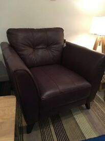 Purple Leather Accent Arm Chair from dfs, rrp £599
