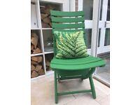 Garden chair. Good condition adjustable back. Very comfortable.