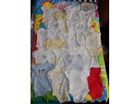 Baby vests x 24 first size - up to 3 months, some never worn, bundle 0-3 neutral