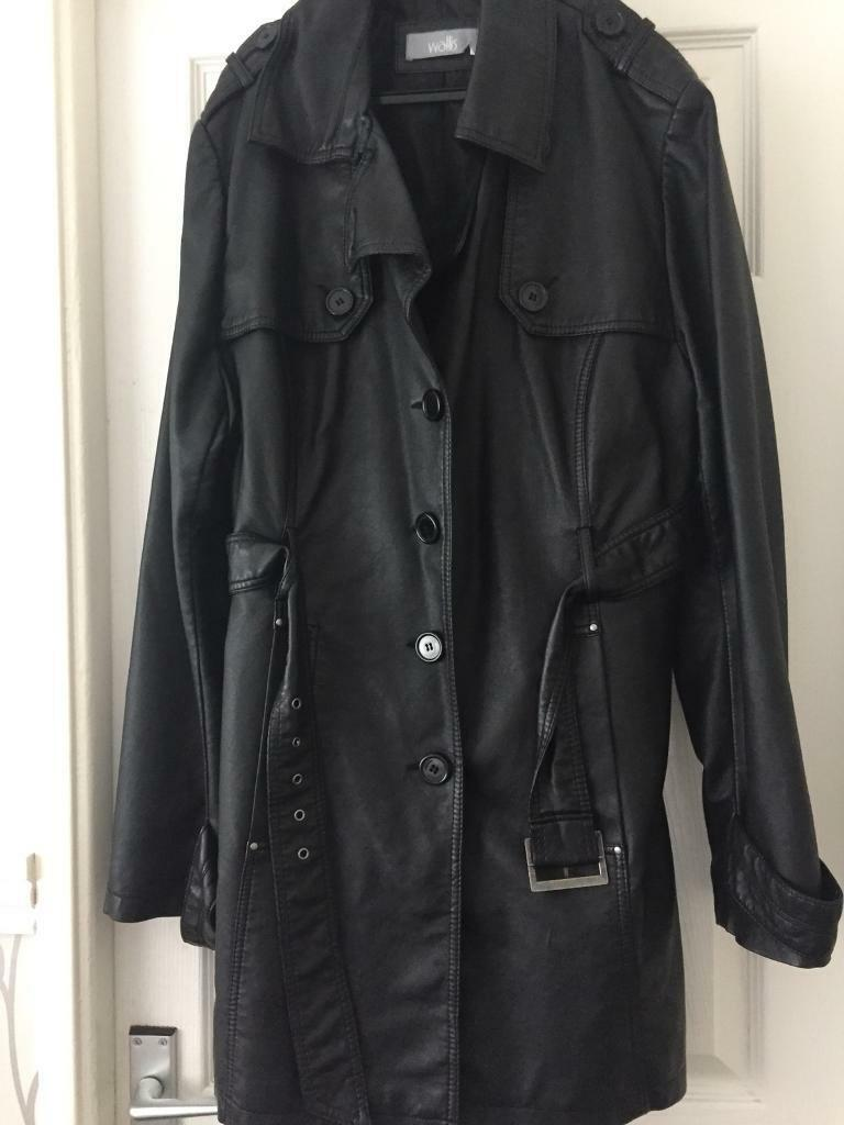 WALLIS LADIES REAL LEATHER JACKET SIZE 16-18