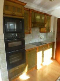 Used timber fitted kitchen and appliances.