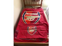 Arsenal F.C. single quilt cover and pillow case set