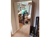 IKEA PAX Oak Double Mirror Wardrobe
