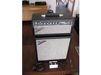 Fender Super Champ X2 Electric Guitar Amp Head & Speaker Cab + Foot Switch