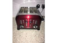 Full kitchen set in candy red - morphy Richards