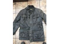 Barbour international jacked distressed leather