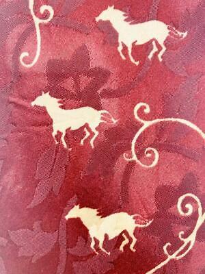 New 1930s Mens Fashion Ties VINTAGE 1930S 40S UNKNOWN RED HORSE SLIM  NECKTIE TIE HAU2720 $9.99 AT vintagedancer.com