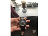 Men's genuine armani watch, black and gold limited edition